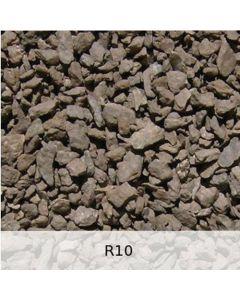 R10 - Diabas Schotter leichte Rostpatina - Spur 1
