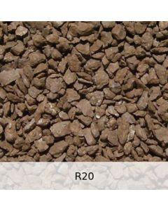 R20 - Diabas Schotter starke Rostpatina - Spur 1