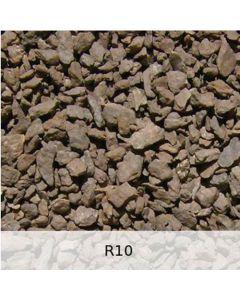 R10 - Diabas Schotter leichte Rostpatina - Spur N Grob