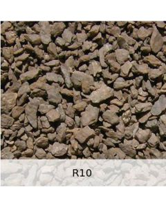 R10 - Diabas Schotter leichte Rostpatina - Spur H0