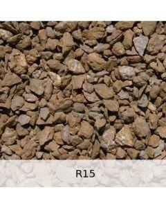 R15 - Diabas Schotter mittlere Rostpatina - Spur H0