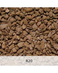 R20 - Diabas Schotter starke Rostpatina - Spur H0