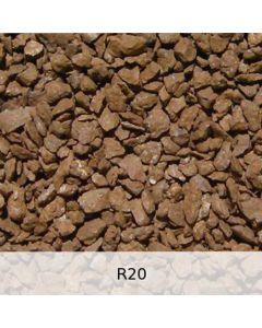 R20 - Diabas Schotter starke Rostpatina - Spur N